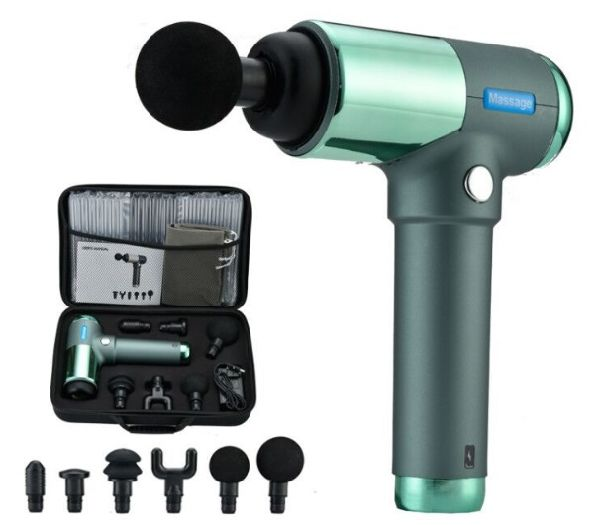 Massage Gun, 30 Adjustable Speed Vibration Levels and 6 Head