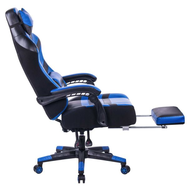 shop for killabee big and tall 400lb memory foam reclining gaming chair adjustable back angle. Black Bedroom Furniture Sets. Home Design Ideas