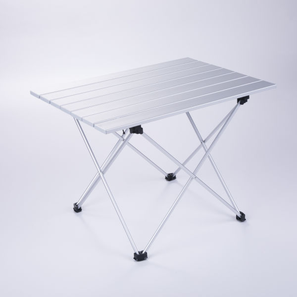 El Indio Aluminum Folding Collapsible Camping Table Roll Up With Carrying Bag For Indoor And Outdoor