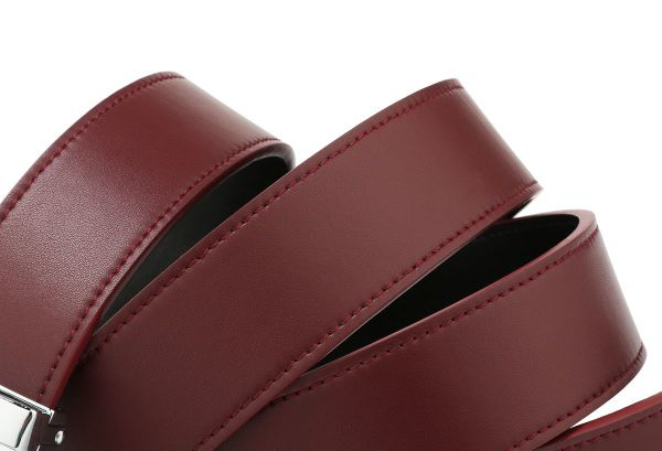 Holeless Leather Straps for Men (Cordovan)