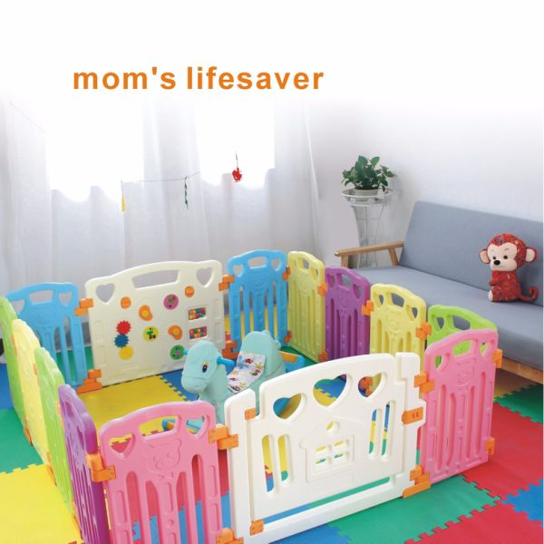 Baby Playpen Kids Activity Centre Safety Play Yard Home Indoor Outdoor With 14 Panels New Pen