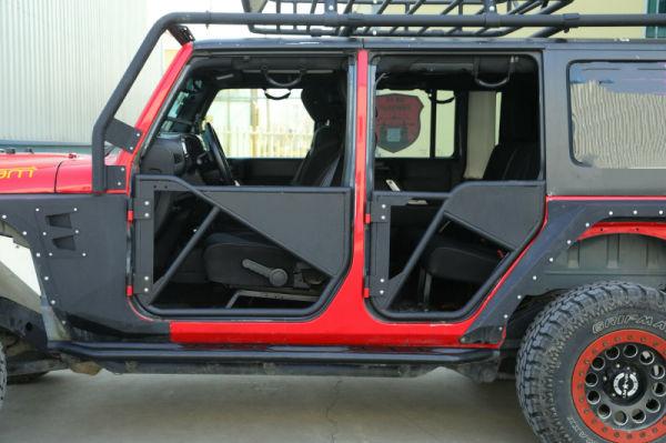 Tube Door (4 door) For Jeep Wrangler JK 07-17 Front& Rear 1 Set / Carton