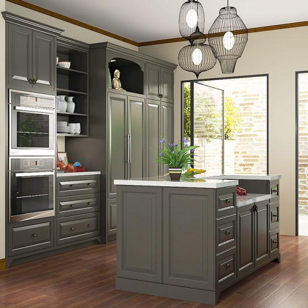 American Style Shaker Kitchen Cabinet Modular Kitchen Cabinets Op15 L21 1 Set Set S