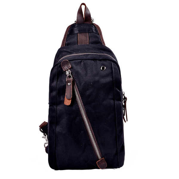 a9d90a371c94 Korean version of the tidal backpack men s mini canvas breast bag dual-use chest  bag
