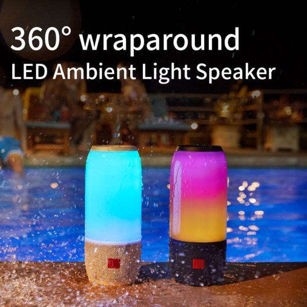 CYBORIS 360 wraparound LED Ambient Light Speaker Bluetooth speaker Column Subwoofer Outdoor Colorful Portable