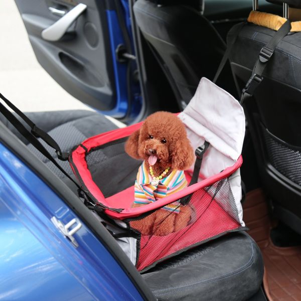 Tremendous Kinbor Pet Car Seat Carrier For Dog Cat Lookout Booster Seat Redgrey 1 Piece Carton Evergreenethics Interior Chair Design Evergreenethicsorg