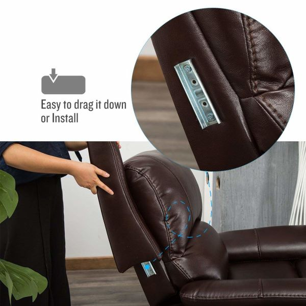 Shop For Canmov Bonded Leather Rocker Gliding Recliner