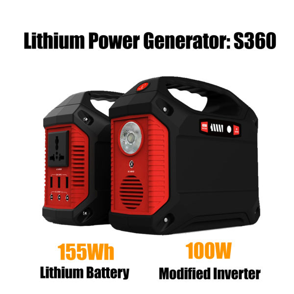 Portable Solar Generator With Ac Dc Inverter For Camping Source Power Supply 155wh 42000mah Capacity 4 Pieces Carton