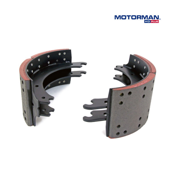 (MOTORMAN HD) Truck and Trailer Brake Shoe with Meritor Q Plus & Spicer Xtralife II & Hendrickson Intraax