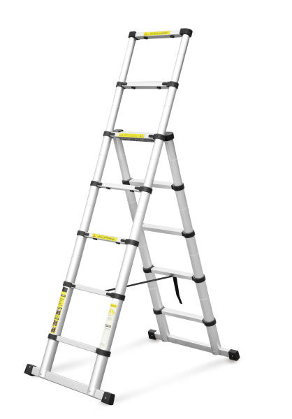 Oluda 10 5ft Aluminium Extendable Multipurpose Telescoping Ladder with  EN131 Certified and Super Locking Mechanism Loaded 400 Pound Capacity 1  Piece /