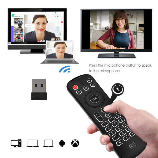 Rii MX6 Air Mouse Auto Microphone 2 4G Remote Control Mini Wireless  Keyboard infrared Learning For Smart TV Box HTPC IPTV PC Pad XBOX Raspberry  pi 1