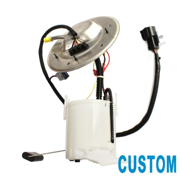 custom 1pc electric intank fuel pump module assembly with fuel level sensor  & floater arm & strainer & installation kits fit 01-04 ford mustang 3 8l v6  4 6l