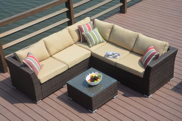 Shop For Direct Wicker 4pc Patio Sectional Furniture Pe Wicker
