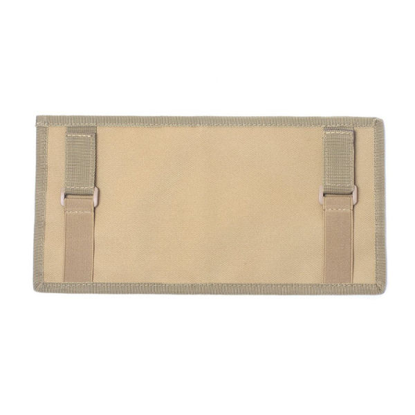 Storage Pouch Panel Webbing Ring Molle Buckle ID Organizer Holder For Car Visor