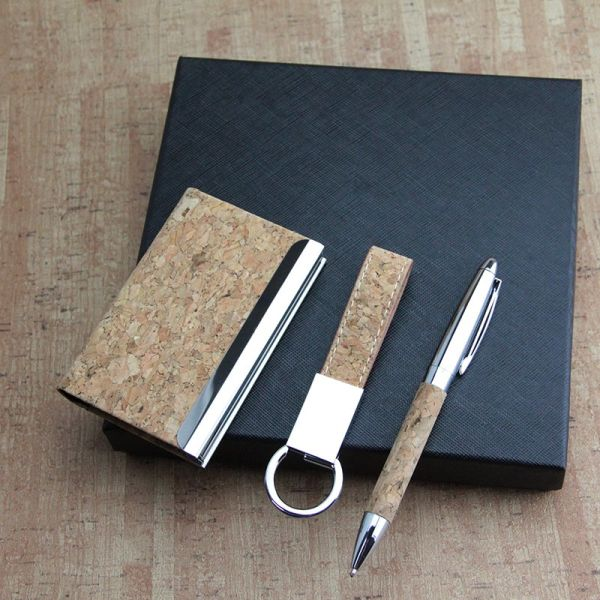 DIY New Design Cork Item with Pen in Set for Gift