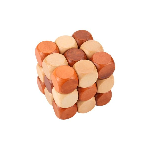 GYBBER&MUMU Little star Excellent IQ Brain Teaser 3D Wooden Interlocking  Burr Puzzles Game Toy For Adults And Kids 1 Piece / Package