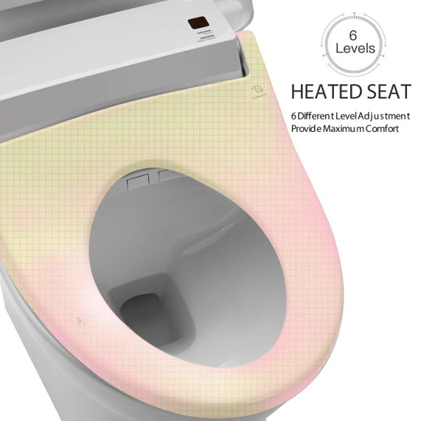Prime Yanxuan Smart Toilet Seat With Self Cleaning Stainless Nozzle Bidet With Heated Seat And Temperature Controlled Wash Warm Air Dryer Elongated 1 Caraccident5 Cool Chair Designs And Ideas Caraccident5Info