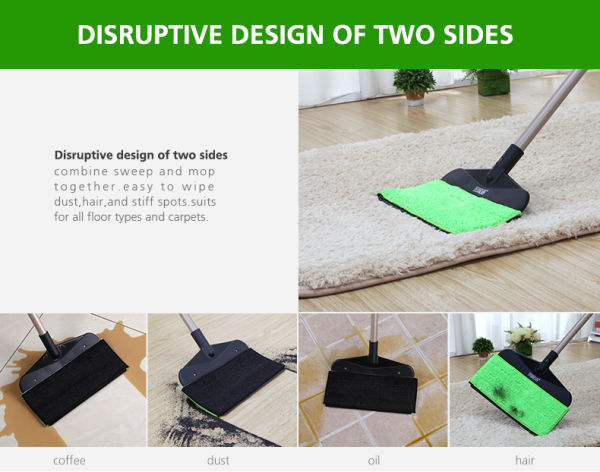 DOUBLE SIDES CNY PROMOTION FLEXIBLE MOP WET AND DRY USE HAIR CLEANER  MULTI-FUNCTIONAL FLOOR MOP FLAT MOP 12 Units / Carton