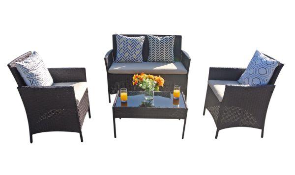Shop For Patio Furniture 4pc Outdoor Sofa Wicker Rattan