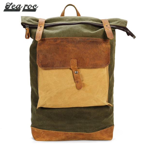 be0ef4743a Red Swan Waterproof Waxed Canvas Academy Weekend Travel Notebook Backpack  Stylish Retro Travel Casual Backpack