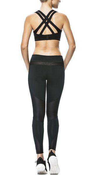 e629d45bfb7a1 Yvette Women Criss Cross Back Sports Bra-High Impact Plus Size Strappy Bra