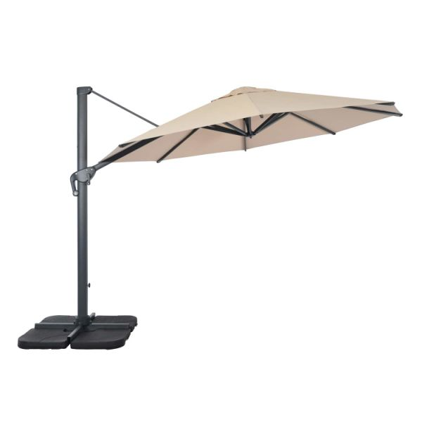 Suna Outdoor Patio Umbrella Offset Cantilever 11 5 Feet Large Hanging