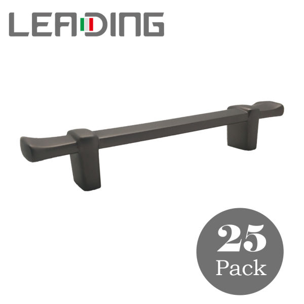 25 Pack T Bar Kitchen Cabinet Pulls Black Handles 3 4