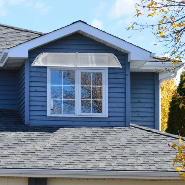 Kinbor Overhead Door Window Outdoor Awning Canopy Patio Cover Modern Polycarbonate Rain Snow Protection 1 Piece Carton