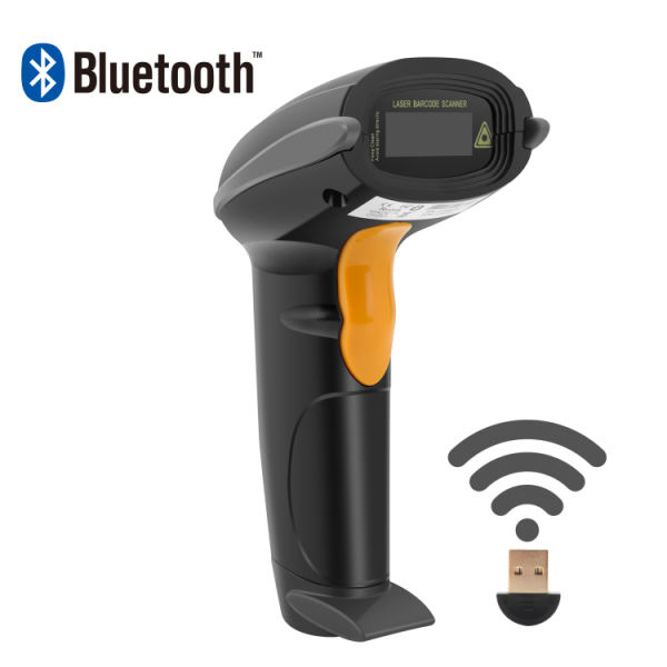 Wireless Bluetooth Handheld Barcode Scanner, for Android Mobile, iPhone,  iPad, Window PC, 10-15M Communication Distance 1 Piece / Box