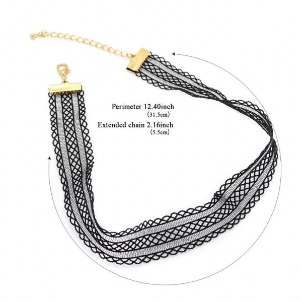 Shop For Leiiy New Design Fashion Jewelry Trendy Black Strand Lace Choker Necklace For Women Girls Ladies At Wholesale Price On Crov Com