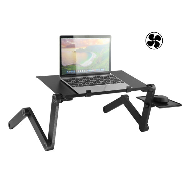 Adjustable Laptop Desk Stand Vertical Laptopo Mac Folding Stand Table  Vented CPU Fans,Portable with Mouse Pad Office Phone Ergonomic Mount  MacBook Pro