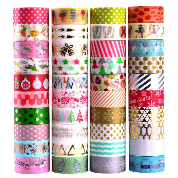 Pamapic Washi Tape Set of 40 Rolls, decorative Tape Christmas design, Great  glitter washi tape for Planners, Arts, Crafts, DIY, Colored Masking Tape