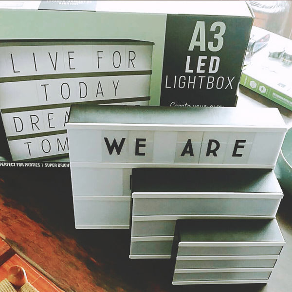 8pcs A3 Size Customizable Light Box With Black Letters Numbers