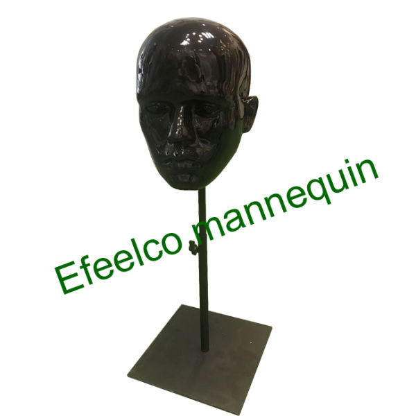 Head Mannequins With Metal Base
