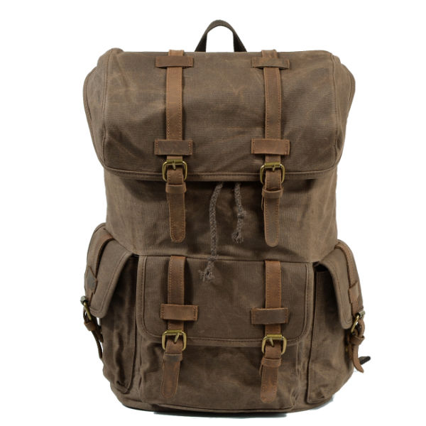 3b5f1355e218 Shop for REDSWAN Outdoor Canvas Leather Backpack