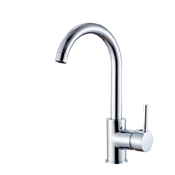 Flg Contemporary Compact Kitchen Sink Faucet 12 Inch Tall Mixer Taps Bar Sink Faucet Chrome 100058 1 Piece Box