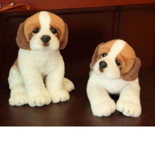 Hot Sale Simulation Brown Plush Dog Doll Stuffed Animals Dog Toys 1 Piece Package