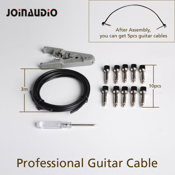 DIY Solderless Guitar Patch Cable for 6.35mm Audio Plugs (4.2002/X224N-3M)