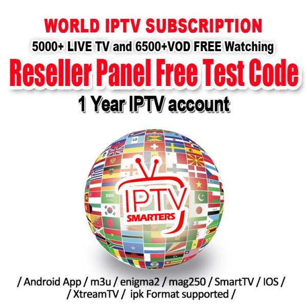 IPTV Account for Android TV Box 4k With Abonnement IPTV 30+ Countries  Thousands TV Channels IPTV Subscription France Portugal Arabic UK It 1 Unit  /
