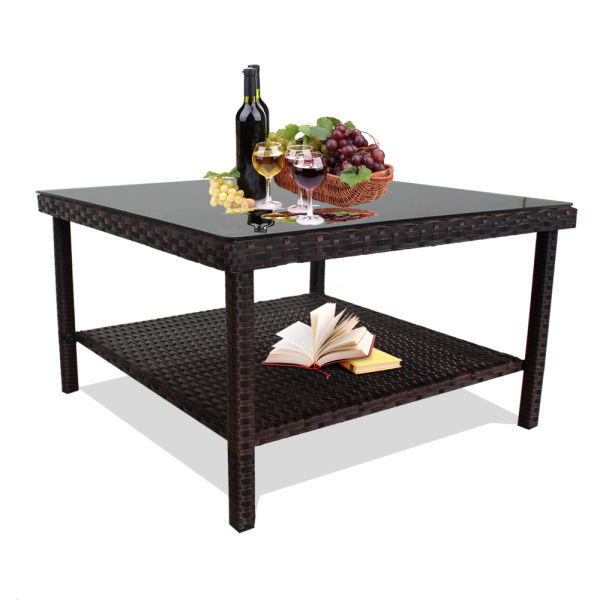 Wicker Coffee Table Indoor Uk: Shop For Patio Table Outdoor Indoor Square Patio Rattan