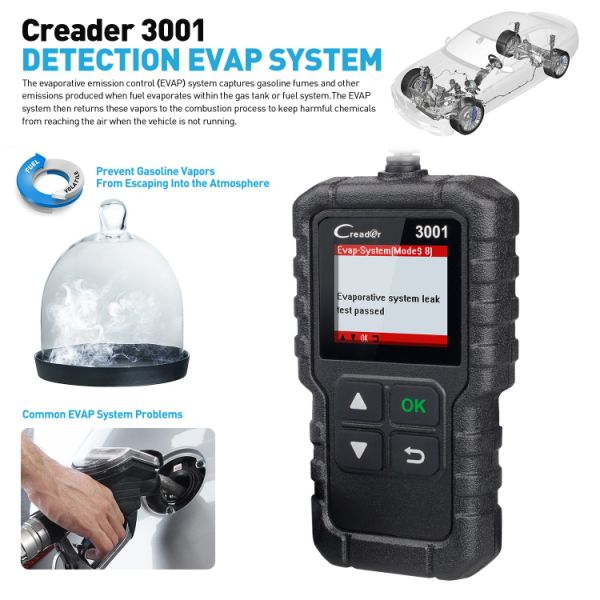 Launch CReader 3001 EOBD OBD2 Scanner Tool Auto Car OBDii Code Reader  Professional Automotive CAN Diagnostic Scan Vehicle Engine O2 Sensor  Systems