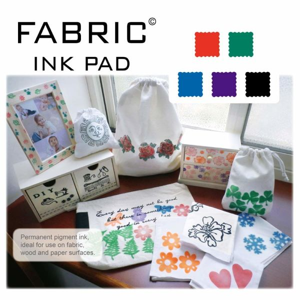 Best Stamp Fabric Ink Pad Stamps Set 5 Colors