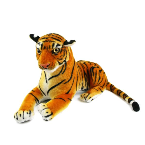 Life Size Realistic Plush Tiger Stuffed Animal Toys