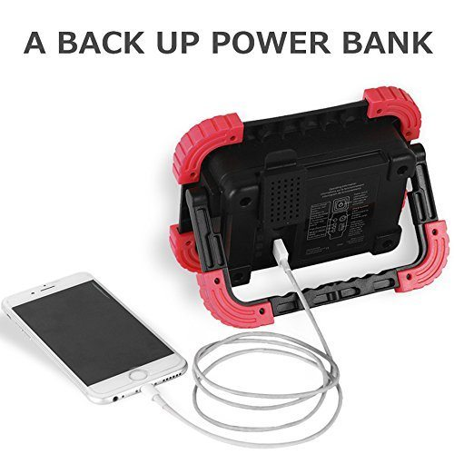 Portable Outdoor 5w Led Rechargeable Work Garage Flood: Shop For BONASHI 15W Portable LED Work Light, Rechargeable