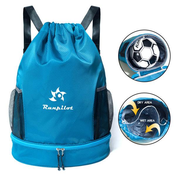 Waterproof Gym Bag, Runpilot Drawstring Swim Pool Backpack Adjustable Dry  Wet Compartment Sports Equipment Bags for Men & Women 1 Piece / Bag