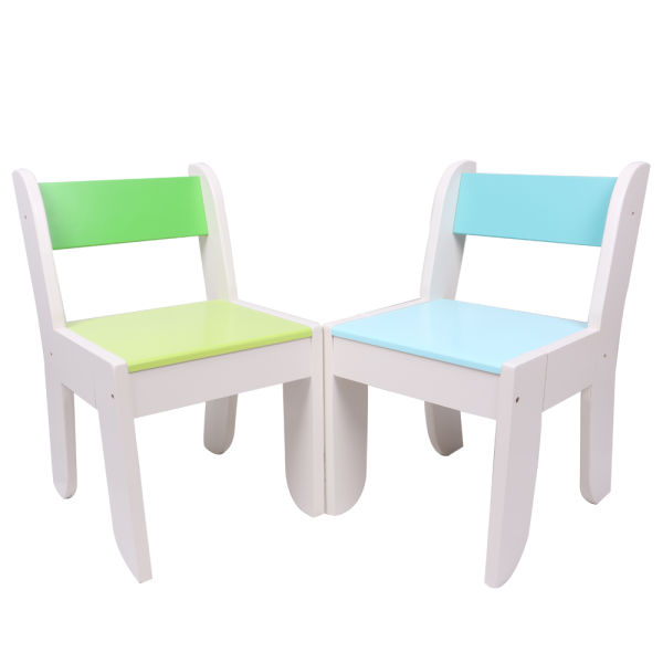 Labebe Chair For Kids Light Blue Color For 1 To 5 Years Old Kids Solid Wood Use For Painting Reading Group Play In Classroom And Home Pair With