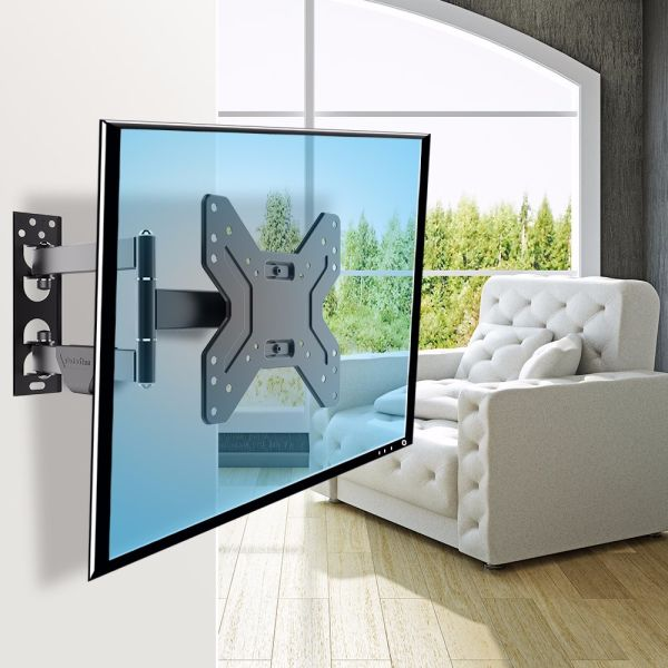 "Fleximounts Full Motion Articulating TV Wall Mount Tilt Swivel Bracket for 17""-42"" LCD LED HD Plasma TV"