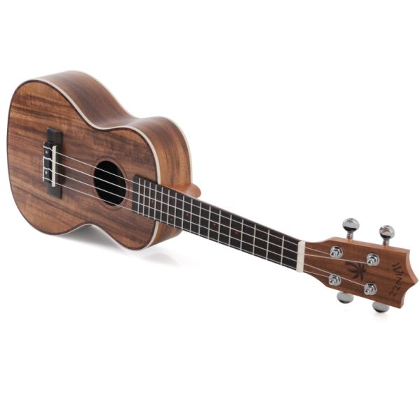 WINZZ 23'' Concert Star Shine Series Ukulele with Bag, Tuner, Strap, Cleaning Cloth, Picks