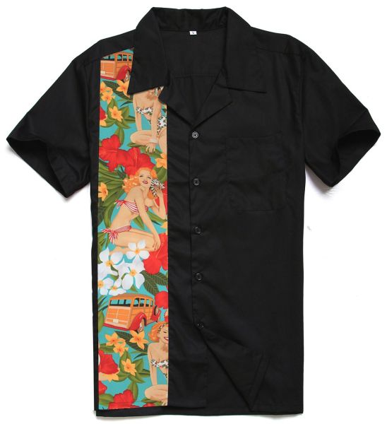 fed55346 Wholesale Latest Custom Design Short Sleeves Bowling Hawaiian Shirt For Men  ST110cargirl-L