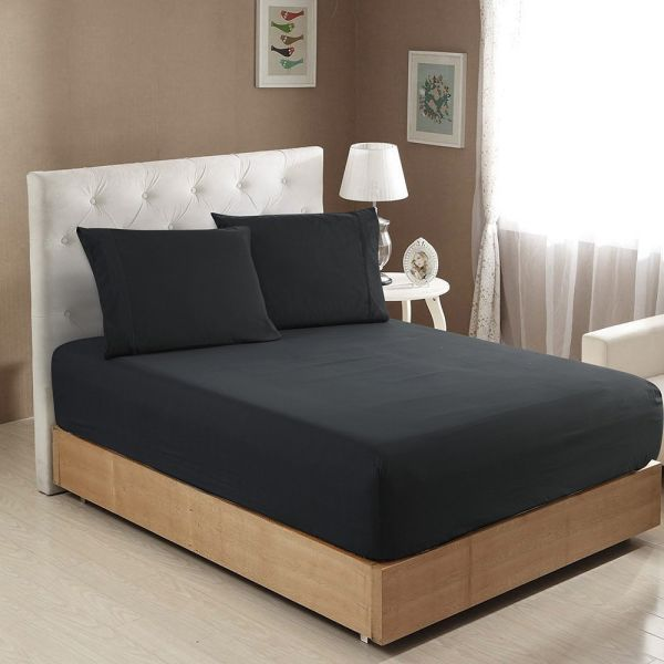Shop For Luxe Manor 105 Gsm 4pc Full Size Bed Sheet Set